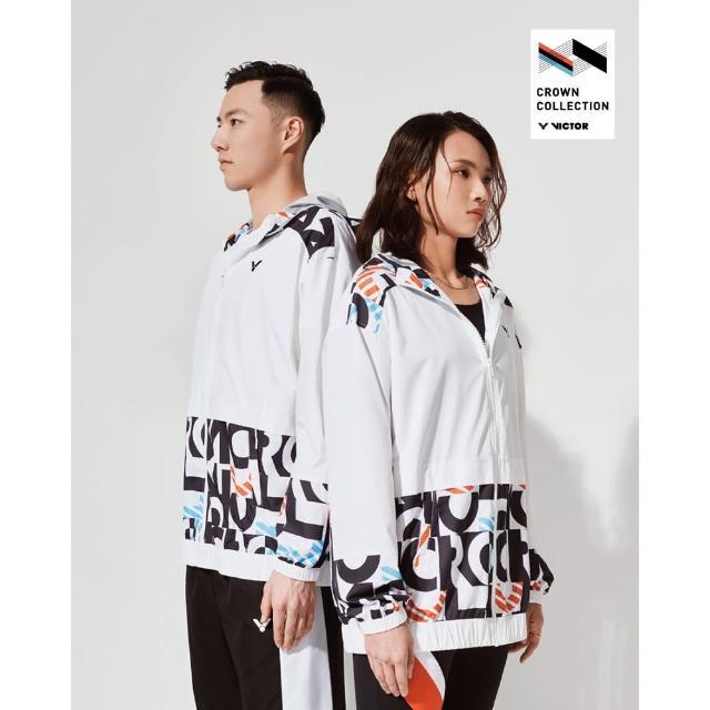 【VICTOR 勝利體育】2021 CROWN COLLECTION戴資穎專屬系列 運動風衣外套 女性款(J-CC111 A 白)