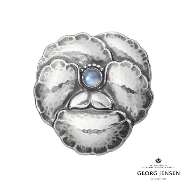 【Georg Jensen 喬治傑生】MOONLIGHT BLOSSOM 藍色月石胸針(官方直營)
