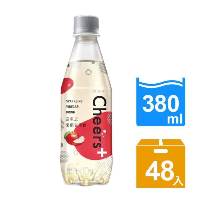 【泰山】TAISUN Cheers+果醋氣泡飲380mlx24入/箱x2箱(共48入)