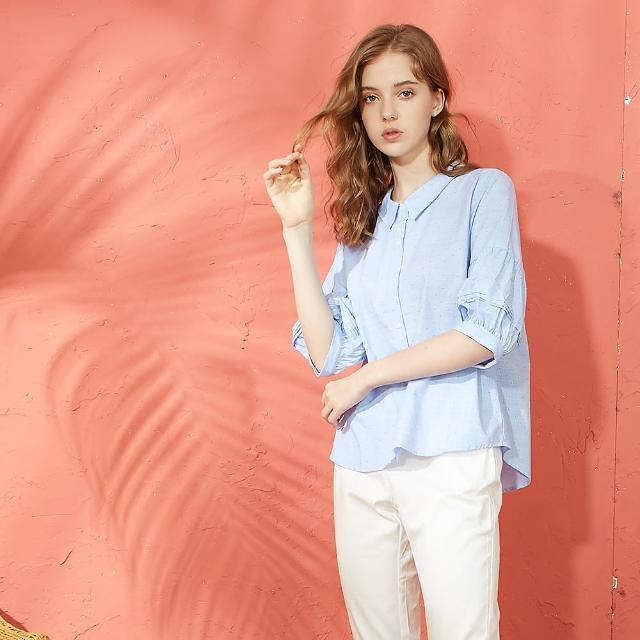 【CUMAR】燈籠袖設計-女七分袖襯衫(二色/版型適中)