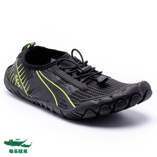 【母子鱷魚】戶外越野水陸兩用休閒鞋-黑