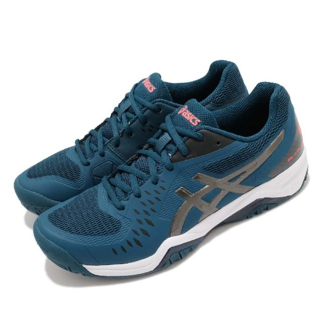 【asics 亞瑟士】網球鞋 Gel-Challenger 12 男鞋 亞瑟士 緩衝 穩定 包覆 膠底 運動 藍 黑(1041A045402)