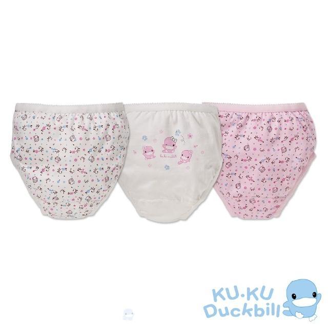 【KU.KU. 酷咕鴨】星星花女童三角內褲(3入組)