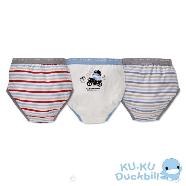 【KU.KU. 酷咕鴨】黑色8號男童三角內褲(3入組)