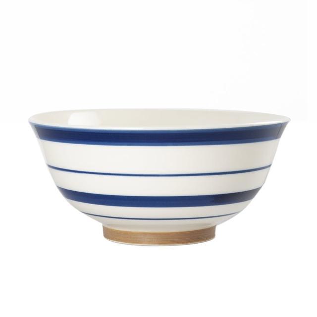 【Royal Duke】復古手繪藍彩系列-6.5吋碗-條紋(復古 彩繪 條紋 陶瓷 小碗 飯碗)