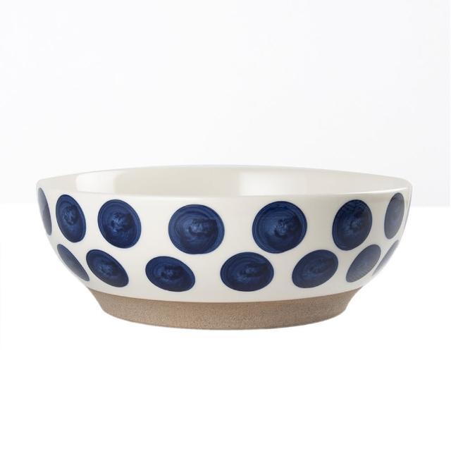 【Royal Duke】復古手繪藍彩系列-8吋碗-波點(復古 彩繪 圓點 陶瓷 湯碗 小碗 飯碗)