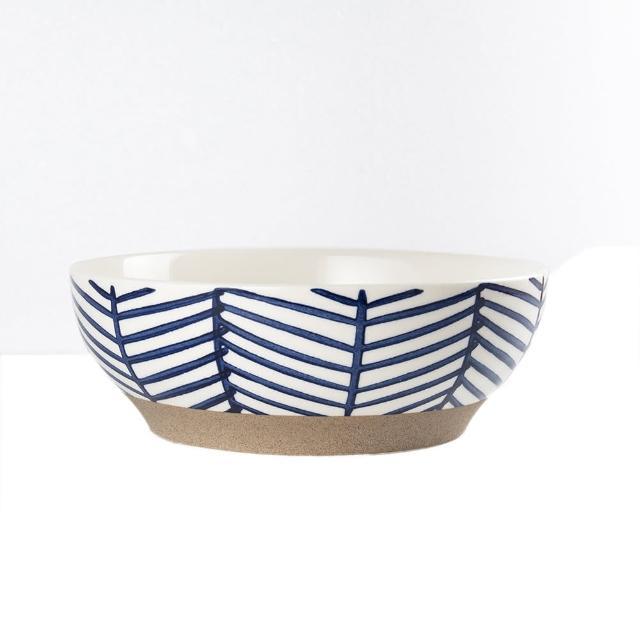 【Royal Duke】復古手繪藍彩系列-8吋碗-樹枝(復古 彩繪 樹枝 陶瓷 小碗 飯碗)