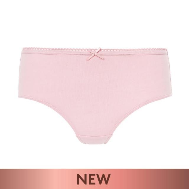 【Triumph 黛安芬】單品褲系列 棉感包臀中腰平口內褲 M-EL(粉紅色)