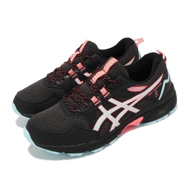 【asics 亞瑟士】慢跑鞋 Gel-Venture 8 D 寬楦 女鞋 亞瑟士 入門野跑鞋 緩衝 戶外活動 黑 藍(1012A706008)