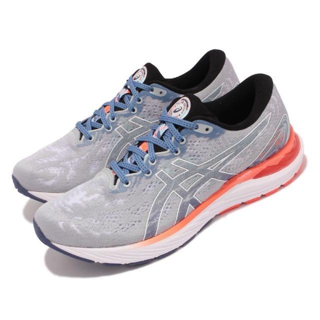 【asics 亞瑟士】慢跑鞋 Gel-Cumulus 23 男鞋 亞瑟士 緩衝型 平穩 支撐 緩震 亞瑟膠 灰 白(1011B314960)