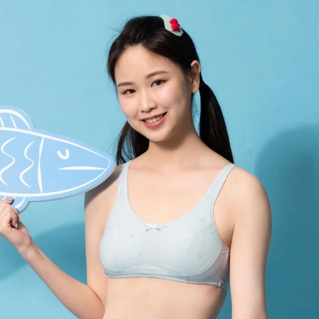 【BeenTeen 嬪婷】蟹蟹你-甲殼素 AA70-85少女內衣 學生第二階段-BB1643AAD3(淺海藍)