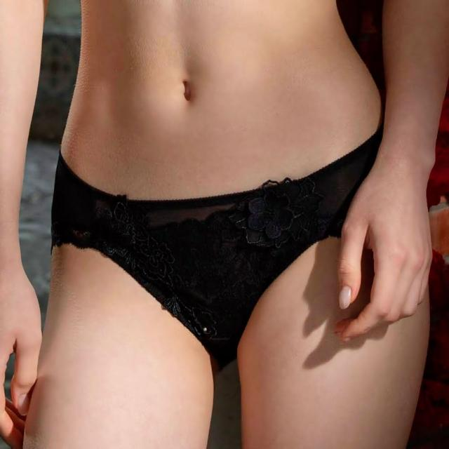 【Salute 莎露】我相信-優雅系列 M-LL中低腰三角褲 搭配內褲-SS3553BL(慵懶黑)