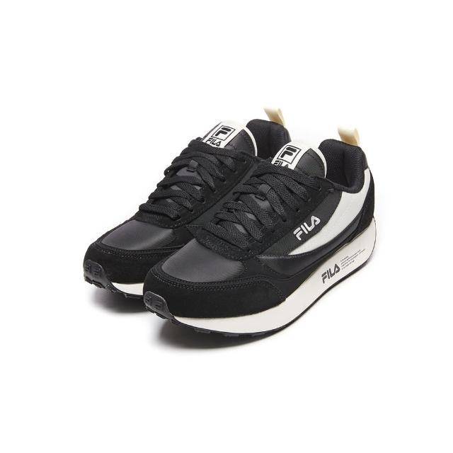 【FILA】男女款 運動鞋 BALANTA 復古運動鞋-黑(4-C615V-001)
