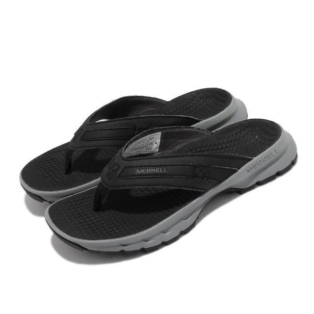 【MERRELL】拖鞋 Cedrus Flip 3 休閒 女鞋 緩衝 舒適 內嵌式避震墊片 穩定 耐磨 黑 灰(ML036392)
