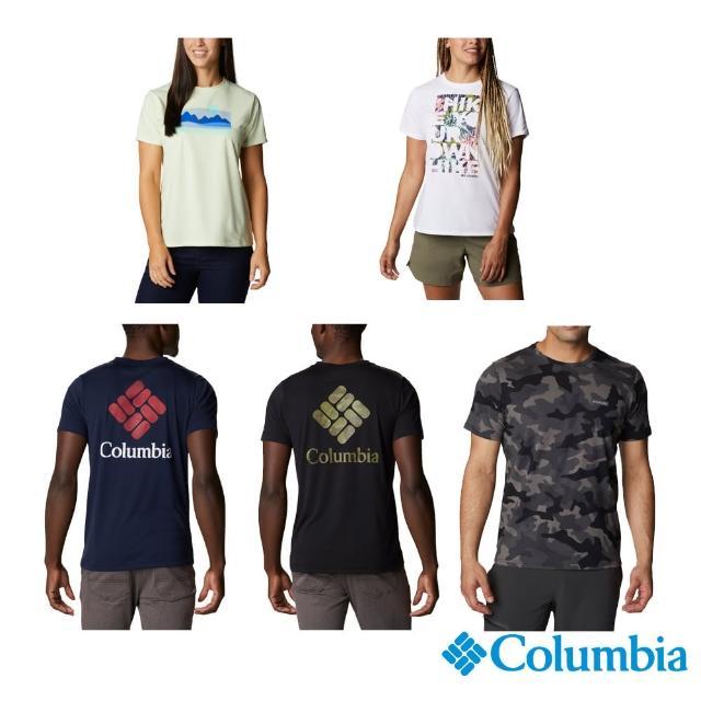 【Columbia 哥倫比亞】男女款- Omni-Wick快排LOGO短袖上衣-5款(活動款 / 排汗.防曬.長褲)