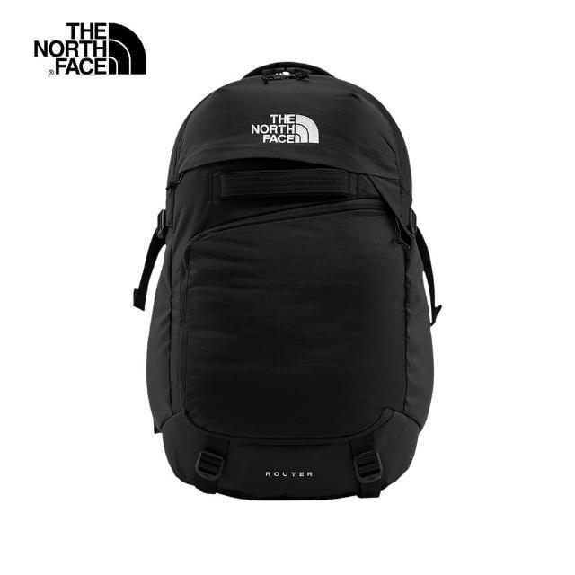 【The North Face】The North Face北面男女款黑色便捷收納休閒後背包|52SFKX7
