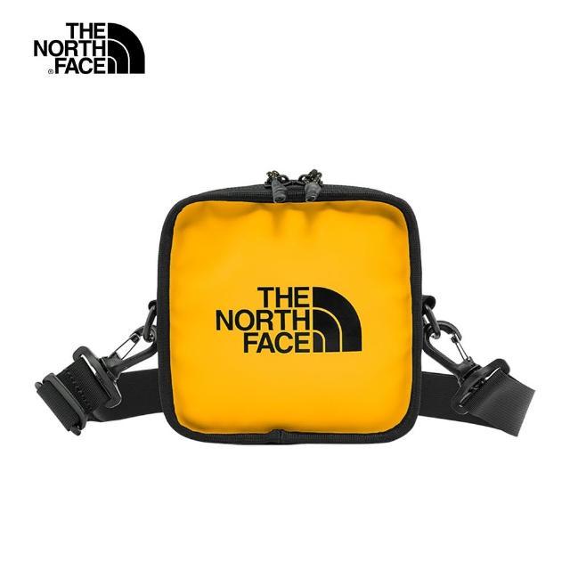 【The North Face】The North Face北面男女款黃黑色方型休閒單肩包|3VWSZU3