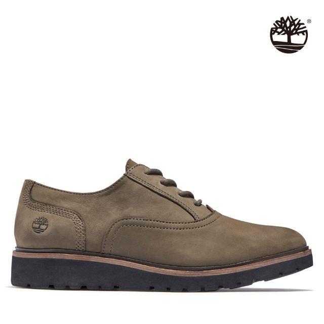 【Timberland】女款橄欖色Ellis Street磨砂革休閒牛津鞋(A1RFX901)