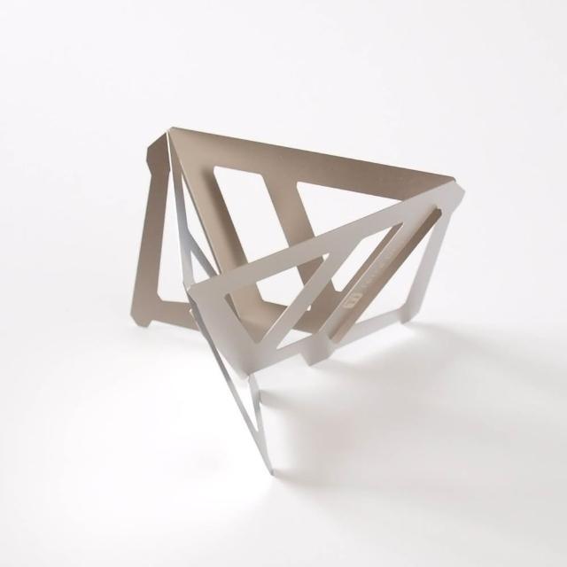 【MUNIEQ】Tetra Drip 01T 攜帶型濾泡咖啡架 Titanium(鈦金屬攜帶型三角濾杯-小)