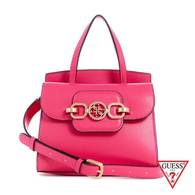【GUESS】獨家首賣_女包-粉嫩純色飾扣肩背手提包-粉(VS811373FUC)