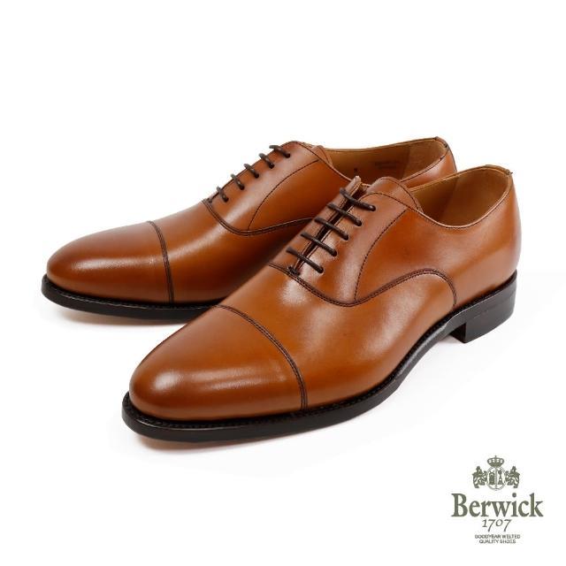 【Berwick】都會商務橫飾牛津鞋 棕色(B5196-CUE)