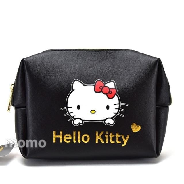 【SANRIO 三麗鷗】時尚Kitty-PU皮革手拿包