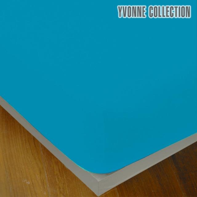 【Yvonne Collection】特大素面純棉床包(藍)