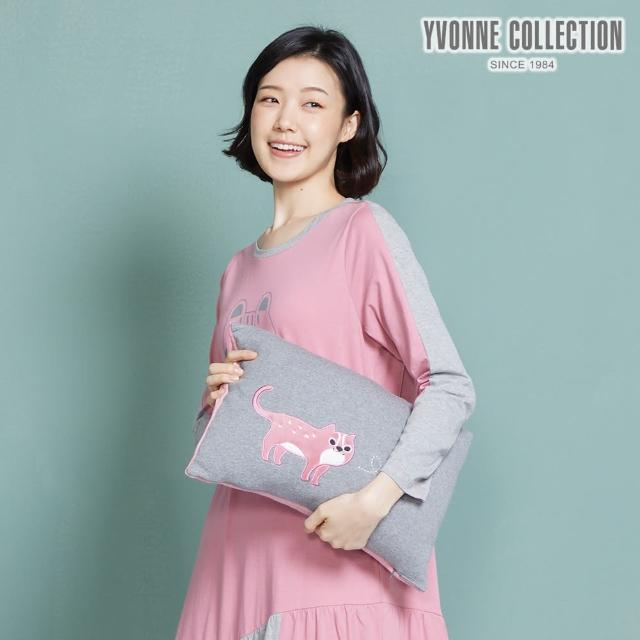 【Yvonne Collection】愛心石虎方形抱枕(岩石灰)