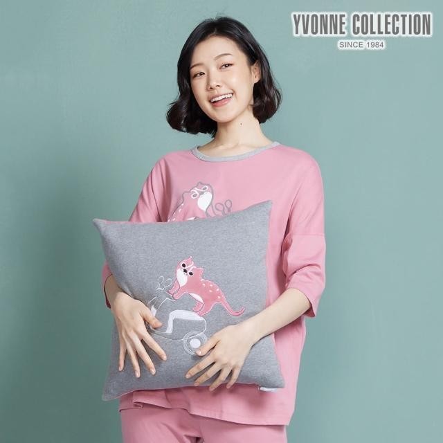 【Yvonne Collection】石虎GOGO方形抱枕(岩石灰)