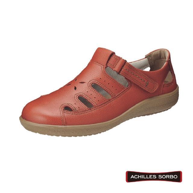 【A.S.O 阿瘦集團】ACHILLES SORBO 樂活休閒腳背調節彈力避震健康鞋-SRL2000(橘)