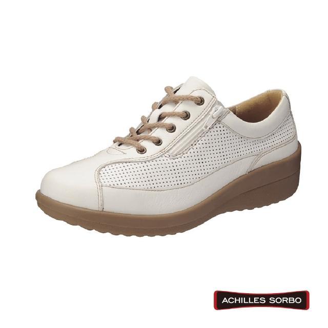 【A.S.O 阿瘦集團】ACHILLES SORBO 4E超寬楦/足底筋膜舒緩側拉鏈式健康鞋-SRL4420(米)