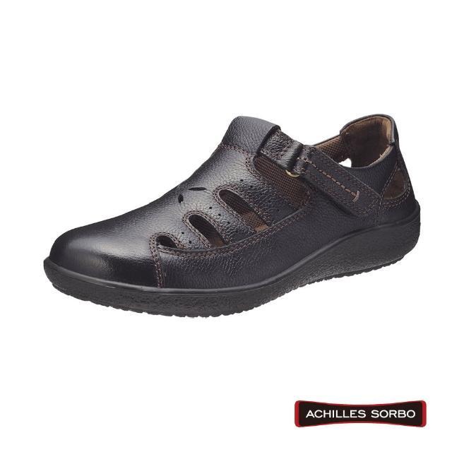 【A.S.O 阿瘦集團】ACHILLES SORBO 樂活休閒腳背調節彈力避震健康鞋-SRL2000(黑)