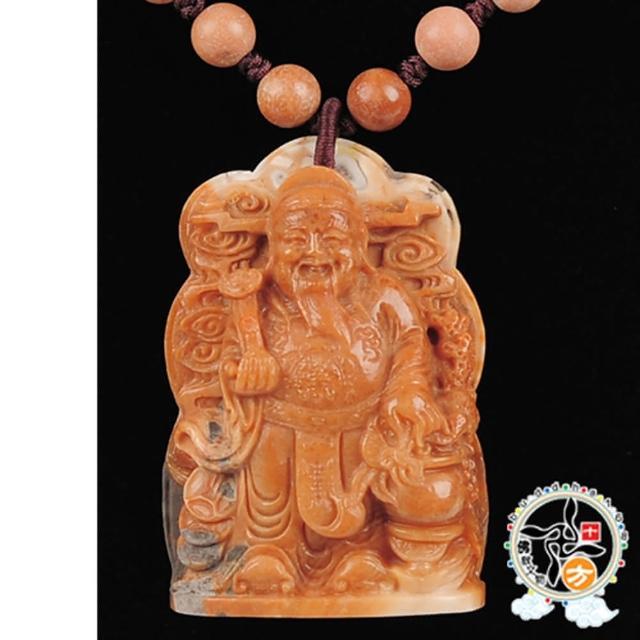 【十方佛教文物】財神爺 極品龍宮舍利項鍊A(大悲咒加持108遍以上)