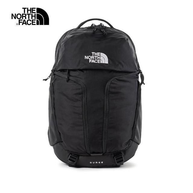 【The North Face】The North Face北面男女款黑色舒適減壓休閒後背包|52SGKX7