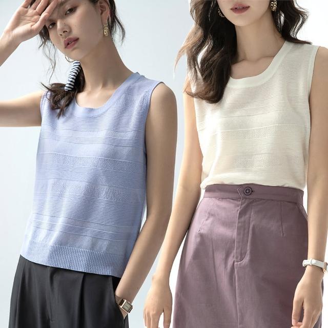 【Alishia】氣質簡約圓領薄款透氣無袖上衣(現+預 黑色 / 白色 / 藍色 / 黃色)