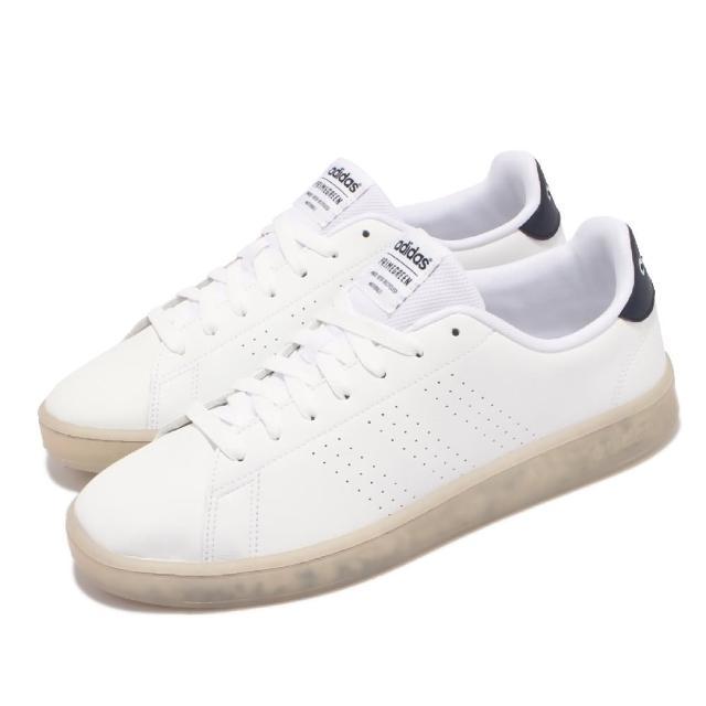 【adidas 愛迪達】休閒鞋 Advantage 運動 男鞋 愛迪達 基本款 環保理念 球鞋 穿搭 白 黑(FY6033)
