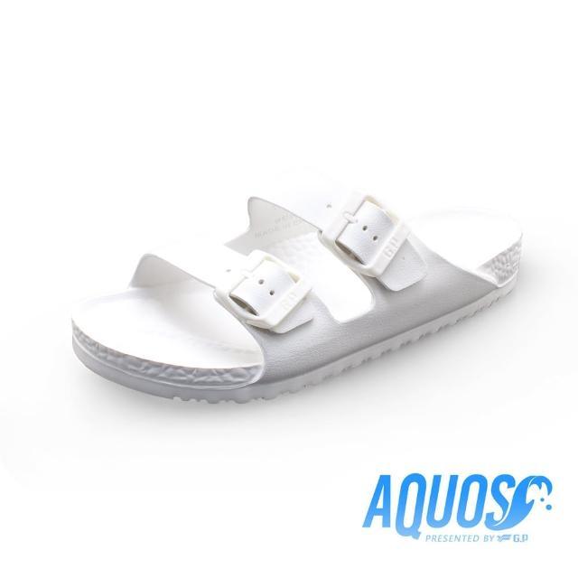 【G.P】AQUOS雙硬度柏肯防水拖鞋A5115-白色(SIZE:36-39 共七色)