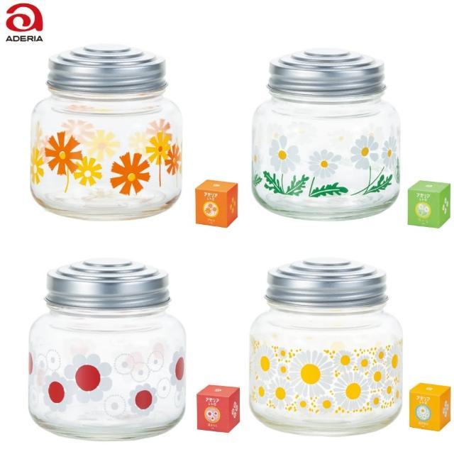 【ADERIA】日本製糖果罐 昭和系列 4款 儲物罐 玻璃罐(儲物罐 玻璃罐 糖果罐)