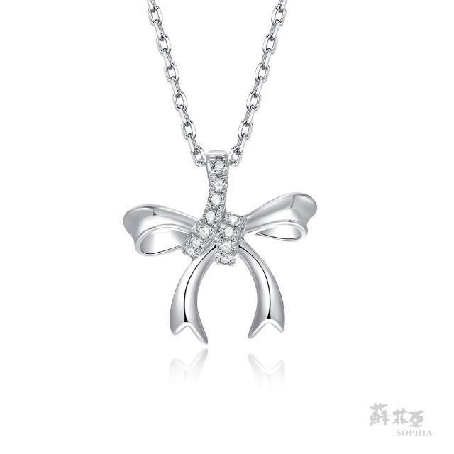【蘇菲亞珠寶】愛戀時光 14K白金 鑽石項鍊