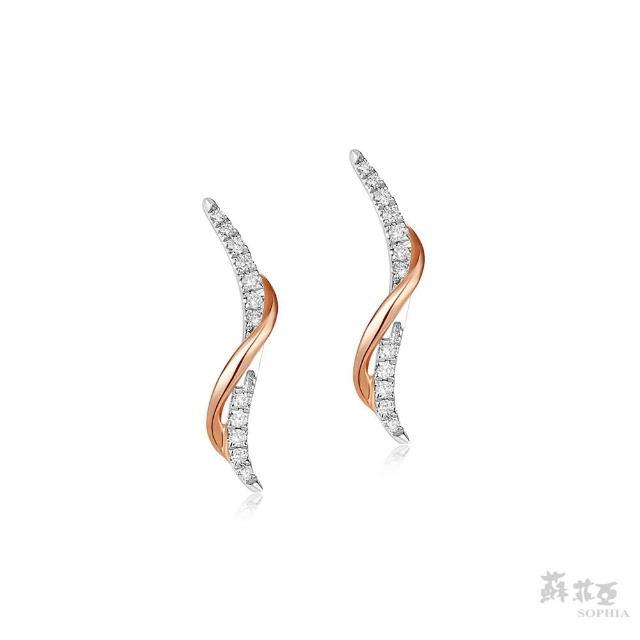 【蘇菲亞珠寶】艾菲絲 14K雙色 鑽石耳環