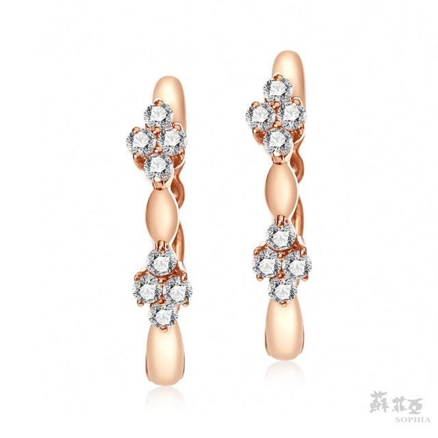 【蘇菲亞珠寶】花情物語 14K玫瑰金 鑽石耳環