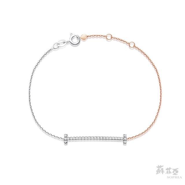 【蘇菲亞珠寶】艾薇拉 14K雙色 鑽石手鍊