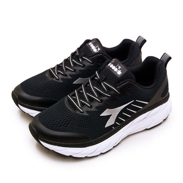 【DIADORA】男 迪亞多那 專業2E寬楦厚底避震慢跑鞋 POWER FOAM系列(黑銀 73128)
