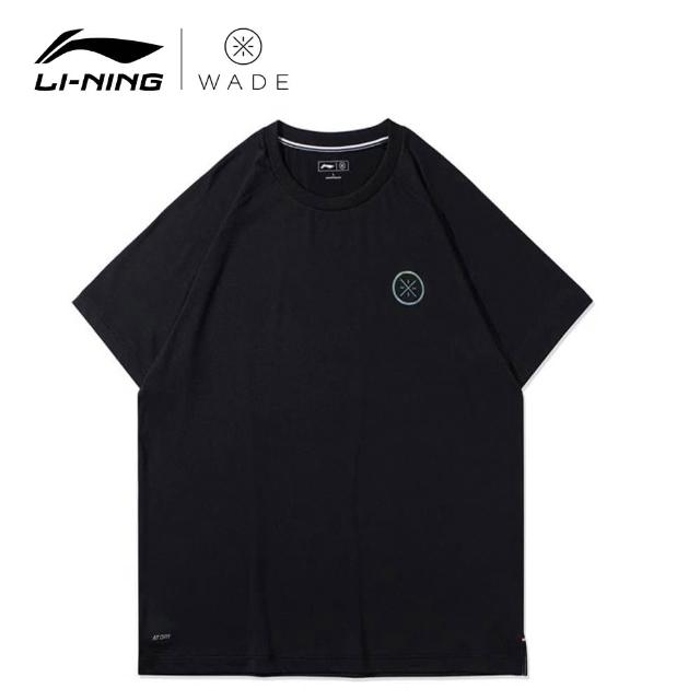 【LI-NING 李寧】韋德系列男子反光速乾涼爽短袖T恤 黑色(ATSR285-1)