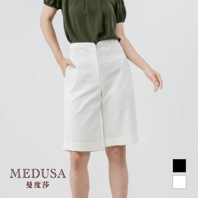 【MEDUSA 曼度莎】小缺口五分棉質短褲(M-XL)|舒適高彈性短褲|上班族穿搭 職場穿搭(601-93103)