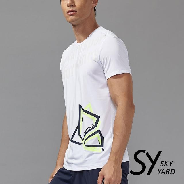 【SKY YARD】個性英文字印花運動T恤(白色)
