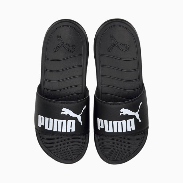 【PUMA】拖鞋 男女鞋 運動 POPCAT 20 黑 37227901