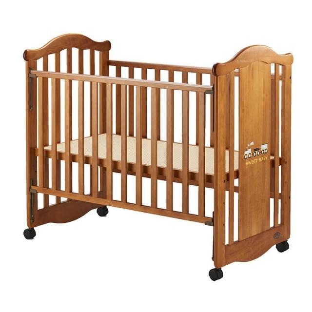 【Sweet Baby】蒸汽火車搖擺中床(附AZZURRA牛仔歐式寢具組-五件式尺寸M)