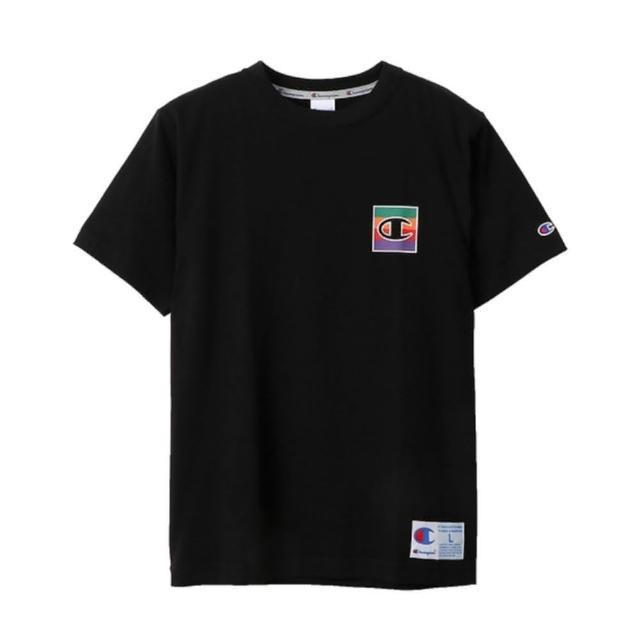 【Champion】日本限定-Action Style黑色小LOGO短袖上衣NO.C3-Q302-090
