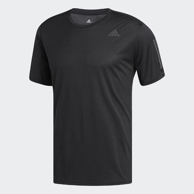 【adidas 愛迪達】ADIDAS RESPONSE TEE M上衣 運動 健身 慢跑 短袖上衣 男款 黑 NO.CG2190